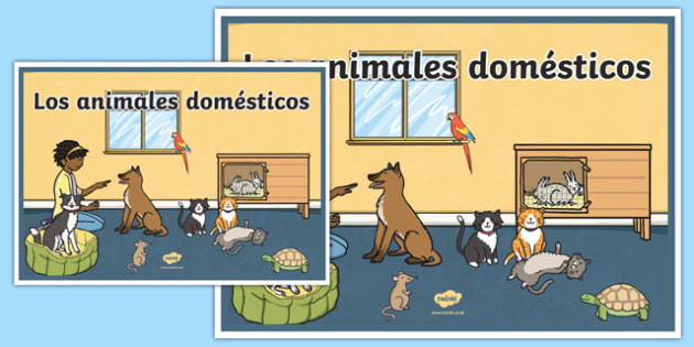 Cartel Los animales domésticos