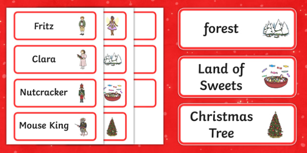 The Nutcracker Word Cards - nutcracker, word cards, cards, ballet