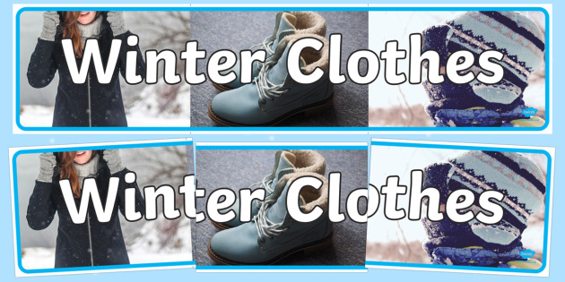 Winter Clothes Photo Display Banner