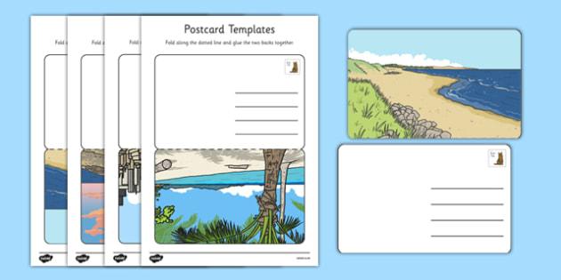 Post Office Post Card Templates - Postcard ,Post Office, Aistear, Template  Writing