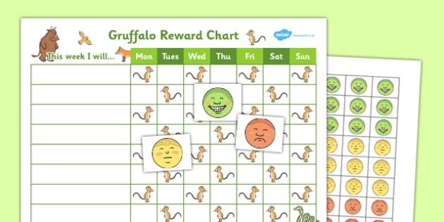 Gruffalo Reward Sticker Chart - gruffalo, reward, sticker, chart