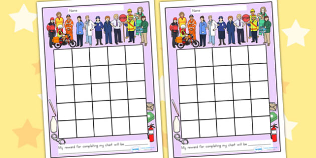 People Who Help Us Sticker Reward Chart - rewards, award, sticker