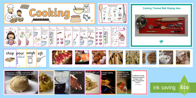 Cooking Wall Resource Pack - Wall Displays, Create, Reminiscence, Ideas, Elderly Care, Dementia, Care Homes, Support, Activity Co