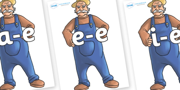 Modifying E Letters on Angry Farmer - Modifying E, letters, modify, Phase 5, Phase five, alternative spellings for phonemes, DfES letters and Sounds