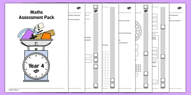 Year 4 Maths Assessment Pack Term 3 - year 4, maths, assessment, pack, term 3