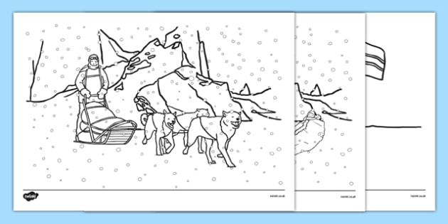 Scott of the Antarctic Colouring Sheets - history, significant, individuals, antarctica, south, pole, primary, nature, geography, maps, art