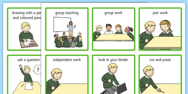 Classroom Visual Aid Cards - classroom, visual aid, cards, visual, aid, visual aid cards