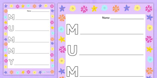 Mummy Acrostic Poem - acrostic poems, acrostic poem, acrostic, mummy, mother's day, mothers day, mothers day poem, mothers day acrostic, mothers day writing frame, acrostic mothers day, poem, poetry, literacy, writing activity, activity