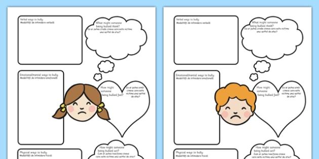 Bullying Worksheets Romanian Translation - romanian, bullying, worksheets, bully, worksheet
