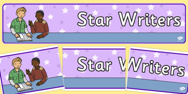 Star Writers Display Banner - star, writer, good, display, banner, sign, poster, writing