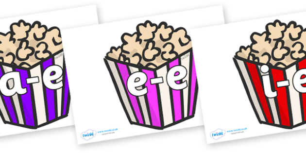 Modifying E Letters on Popcorn - Modifying E, letters, modify, Phase 5, Phase five, alternative spellings for phonemes, DfES letters and Sounds
