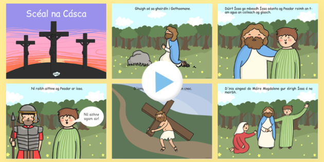 The Easter Story PowerPoint Irish Gaeilge - gaeilge, powerpoint, power point, interactive, the easter story, easter, the easter story presentation, the easter story powerpoint presentation, easter powerpoint presentation, powerpoint presentation, pre