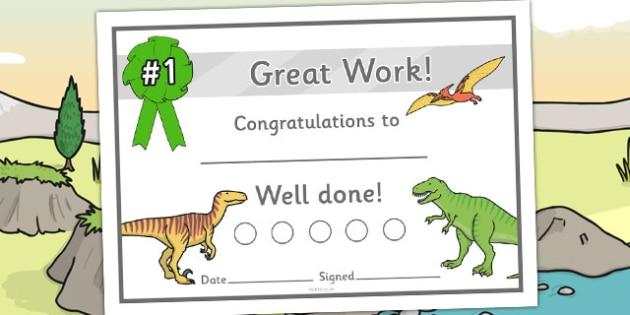Dinosaur Sticker Reward Certificates (15mm) - Dinosaur Reward Certificate (15mm), dinosaur, reward certificate, certificate, reward, 15mm, 15 mm, stickers, twinkl stickers, award, certificate, well done, behaviour management, behaviour,