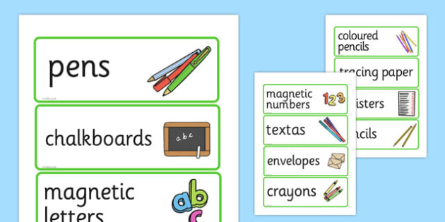Editable Writing Area Resource Labels - writing area, write