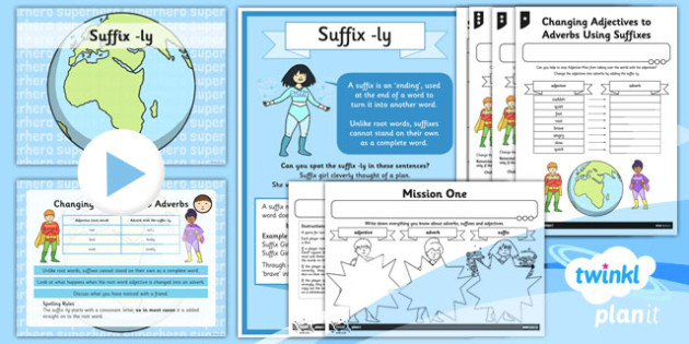 PlanIt Y3 SPaG Lesson Pack Suffix Ly