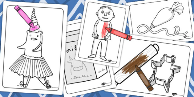 Colouring Sheets to Support Teaching on Biscuit Bear - Biscuit, Bear, Playdough, Story