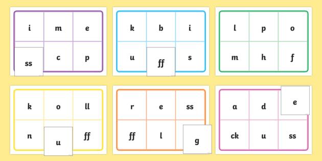 Phase 2 Phonic Bingo and Lotto -Phase 2, Phonic, Phonics, bingo, DfES Letters and Sounds, Letters and sounds, lotto