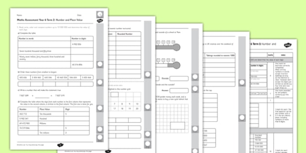 Year 6 Maths Assessment Term 2 Number and Place Value - year 6, maths, assessment, term 2, number and place value