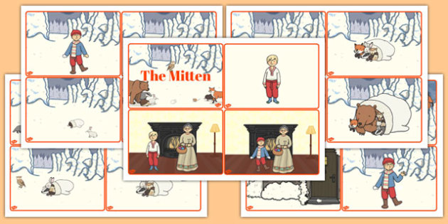 The Mitten Story Sequencing Cards - the mitten, story, sequencing