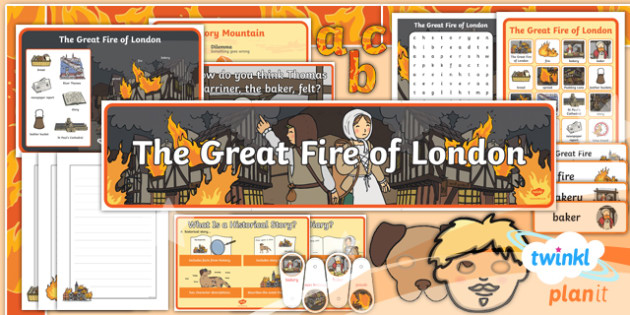 Time Travel: The Great Fire of London Y1 Display Pack - Samuel Pepys, Samuel Peeps, 1666, Pudding Lane, Charles II