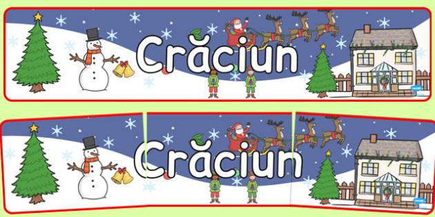Crăciunul - Banner