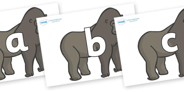 Phoneme Set on Gorillas - Phoneme set, phonemes, phoneme, Letters and Sounds, DfES, display, Phase 1, Phase 2, Phase 3, Phase 5, Foundation, Literacy