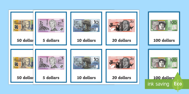Australian notes matching Game - Australian currency, money, notes, coins, Australian curriculum, maths, ACMNA034,Australia