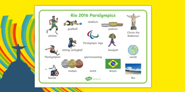 Rio Paralympics 2016 Word Mat