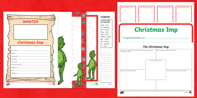 The Christmas Imp  Activity Pack - The Christmas Imp, the grinch, the grinch who stole christmas, christmas, green, imp