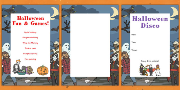 PTA Halloween Posters - Halloween, display, poster
