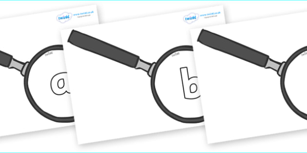 Phoneme Set on Magnifying Glasses - Phoneme set, phonemes, phoneme, Letters and Sounds, DfES, display, Phase 1, Phase 2, Phase 3, Phase 5, Foundation, Literacy