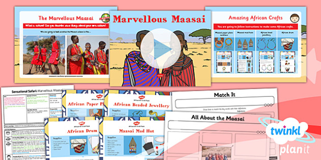 Geography: Sensational Safari: Marvellous Maasai Year 2 Lesson Pack 5