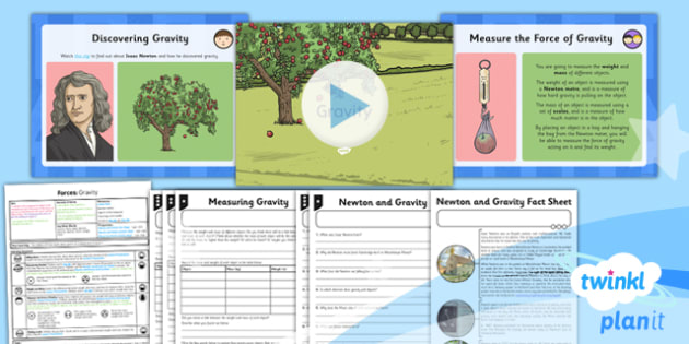PlanIt - Science Year 5 - Forces Lesson 2: Gravity Lesson Pack - planit