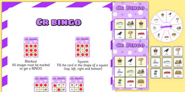 CR Spinner Bingo - cr, spinner bingo, spinner, bingo, activity, cr sound