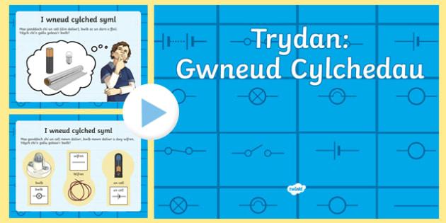 Trydan yn Gwneud Cylchedau PowerPoint-Welsh