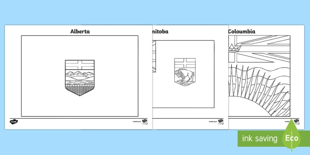 Canada's Provincial and Territorial Flags Colouring Pages - Canadian Multiculturalism Day Resources