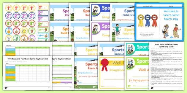 EYFS Races and Field Events Sports Day Resource Pack