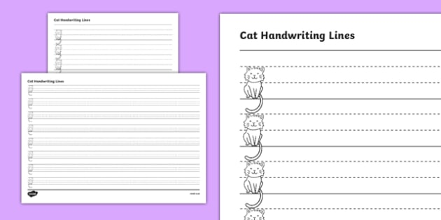 Cat Thirds Handwriting Lines - australia, cat, thirds, handwriting lines, writing