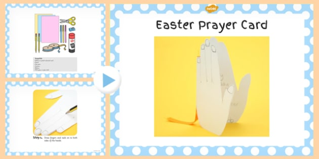 Easter Prayer Card Craft PowerPoint - powerpoint, craft, easter