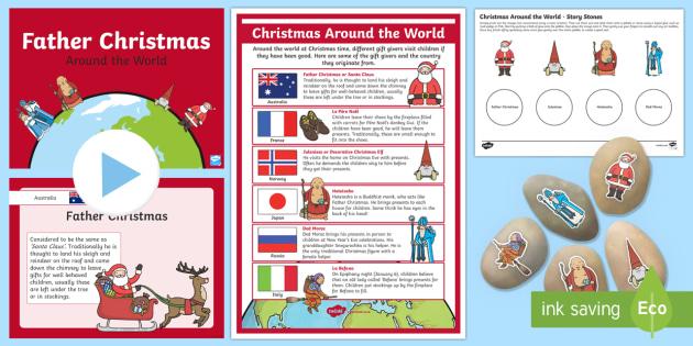 Christmas Around the World Story Stones Activity Pack