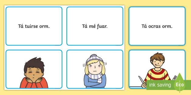Mothúcháin Matching Cards Gaeilge - Requests - ROI, Irish, Gaeilge, mothúcháin, feelings, emotions, myself, mé féin,Irish