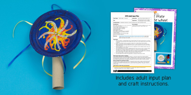 Paper Plate Catherine Wheels EYFS Adult Input Plan and Craft Pack - paper plate, catherine wheel