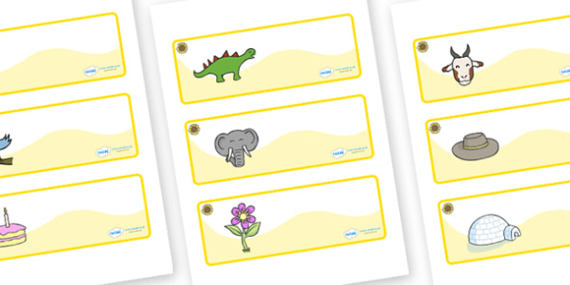 Sunflower Themed Editable Drawer-Peg-Name Labels - Themed Classroom Label Templates, Resource Labels, Name Labels, Editable Labels, Drawer Labels, Coat Peg Labels, Peg Label, KS1 Labels, Foundation Labels, Foundation Stage Labels, Teaching Labels