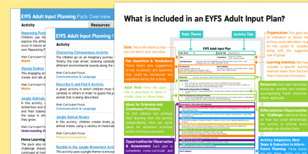 EYFS Adult Input Planning and Resource Pack Overview