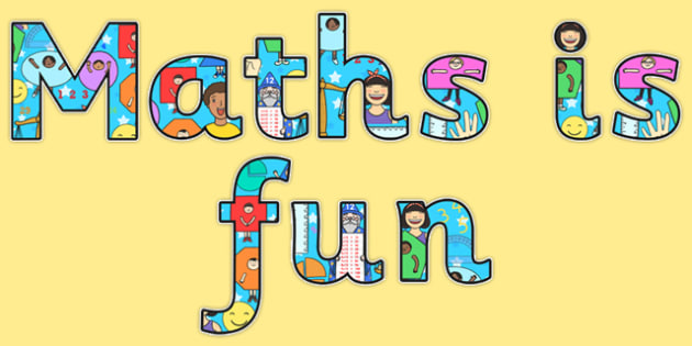 Maths is Fun Display Lettering - display, lettering, maths