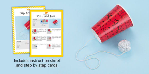 Cup and Ball Craft Instructions - EYFS, KS1, craft, Victorian toys