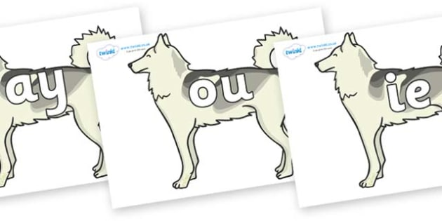 Phase 5 Phonemes on Huskies - Phonemes, phoneme, Phase 5, Phase five, Foundation, Literacy, Letters and Sounds, DfES, display