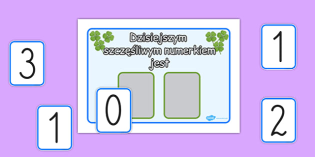 Lucky Number Poster With Numbers Polish - polish, lucky number, pack, lucky, number