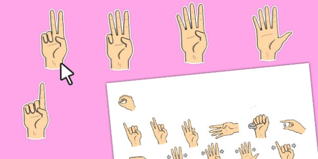 Editable British Sign Language Numbers 0-20 (Signer's View) - numbers, sign