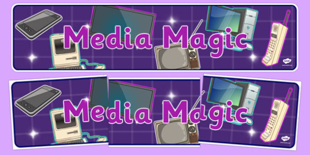 Media Magic Communication Display Banner - media magic, display banner, communication, telephones, internet, media, magic
